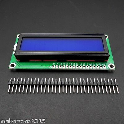 New Blue backlight LCD 1602 16x2 Characters HD44780 display Module for Arduino