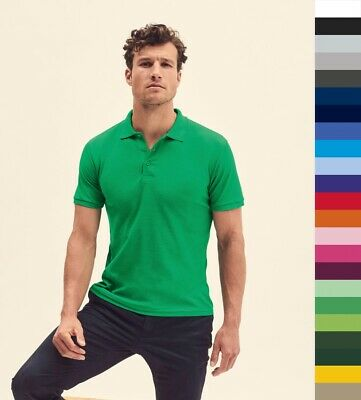 5er Pack ** FRUIT OF THE LOOM ** Herren Poloshirt, Premium Polo 63-218-0 ** NEU