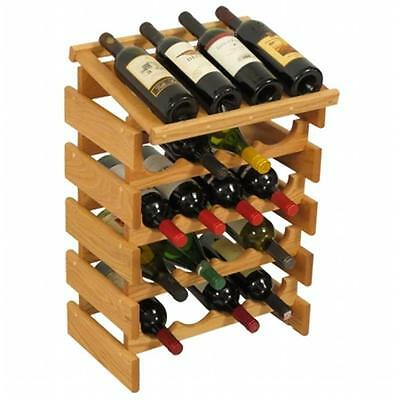 Wooden Mallet WRD44LO 20 Bottle Dakota Wine Rack with Display Top