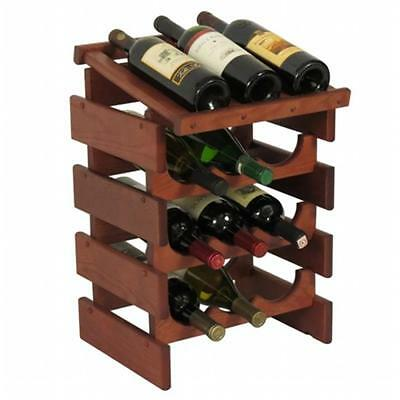 Wooden Mallet WRD33MH 12 Bottle Dakota Wine Rack with Display Top
