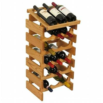 Wooden Mallet WRD35LO 18 Bottle Dakota Wine Rack with Display Top