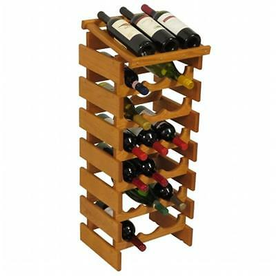 Wooden Mallet WRD36MO 21 Bottle Dakota Wine Rack with Display Top