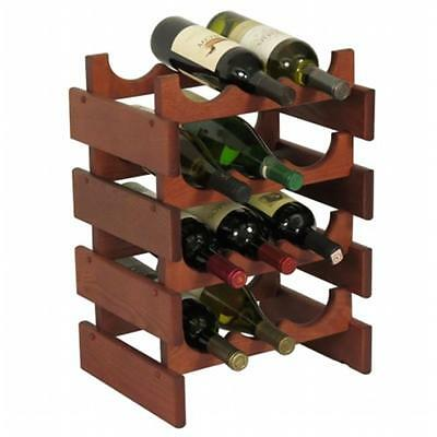Wooden Mallet WR34MH 12 Bottle Dakota Wine Rack