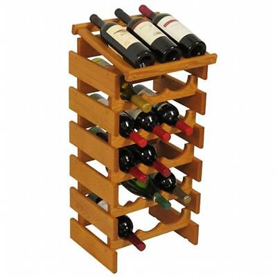 Wooden Mallet WRD35MO 18 Bottle Dakota Wine Rack with Display Top
