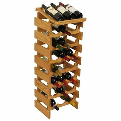 Wooden Mallet WRD37LO 24 Bottle Dakota Wine Rack with Display Top