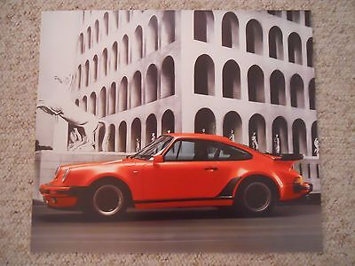 1989 Porsche 911 Turbo Coupe Showroom Advertising Sales Poster RARE Awesome L@@K