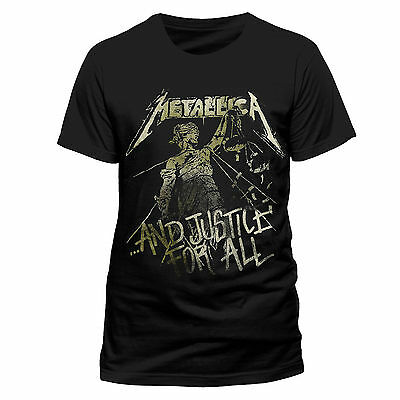Official Metallica - And Justice For All Vintage - Men's Black T-Shirt