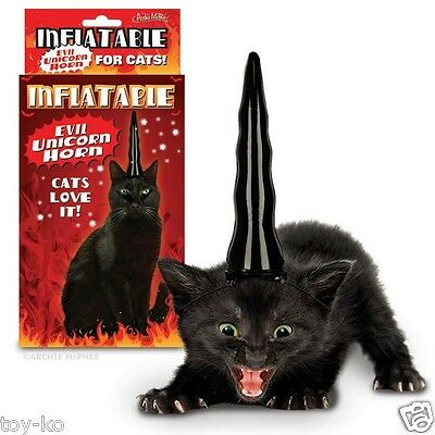 Inflatable Unicorn Horn for Black Cats!