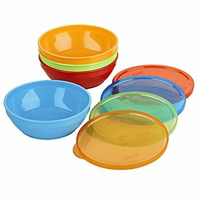 Gerber Graduates Bunch-a-Bowls, 8pc - 4 bowls & lids, colors, New, Free Shipping