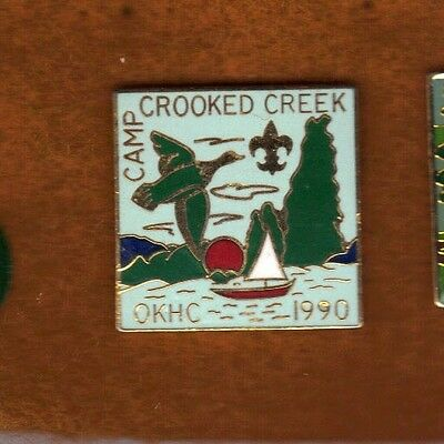 Camp Crooked Creek1990 Pin, Painted Metal, Mint!