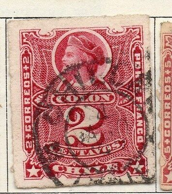 Chile 1877 Early Issue Fine Used 2c. 033516
