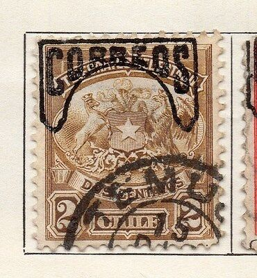 Chile 1904 Early Issue Fine Used 2c. Optd 033548
