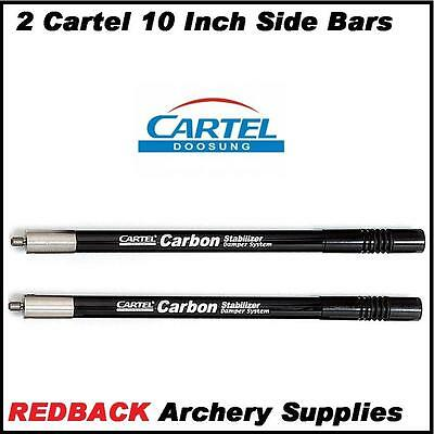 2 Cartel 10 Inch Side Rods for compound and recurve bow