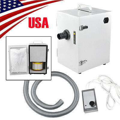 Dental Lab Digital Single-Row Dust Collector Vacuum Cleaner 370W +2 Suction Base