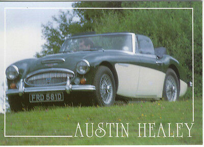 Austin Healey 3000 Mk 3 MODERN postcard issued by Bamforth