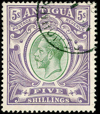 ANTIGUA SG51, 5s grey-green & violet, FINE USED, CDS. Cat £150.