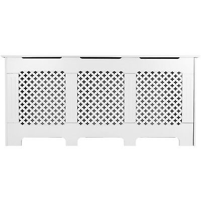 Hartleys White Traditional/classic Home Radiator Cabinet/cover & Shelf Wood/mdf