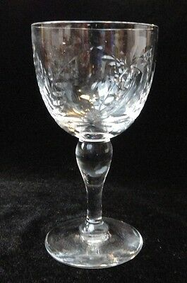 Vintage WEBB CORBETT Cut Crystal LEAVES / Leaf Stems / SET of 6 Cocktail GLASSES