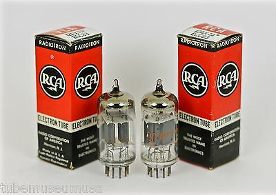 "Nos Rca 12Ax7A 7025 Ecc83 12Ax7 Pair Tubes ""cream Of The Crop"" Highest Echelon!"