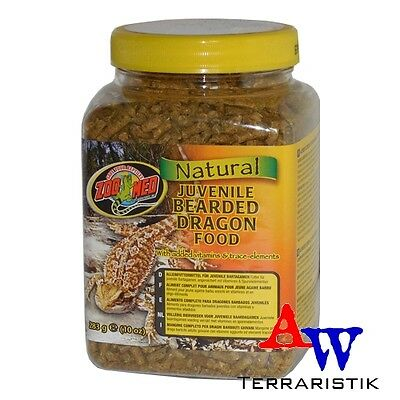 ZooMed Natural Bearded Dragon Food 283g - juvenile - Bartagamenfutter MHD 09/19