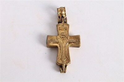 Rare Antique Russian or Greek Orthodox Church Cross Crucifix Pendant.