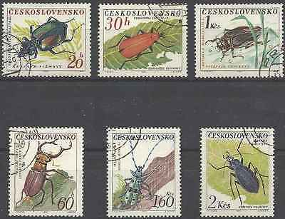 Timbres Insectes Tchécoslovaquie 1245/50 o lot 8658