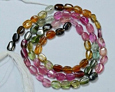 "TM-0006 Tourmaline Natural Gemstone Oval Plain Loose Beads 14"" Str Wholesale"