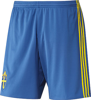 Adidas Sweden Home EURO 2016 Junior Football Game Training Shorts