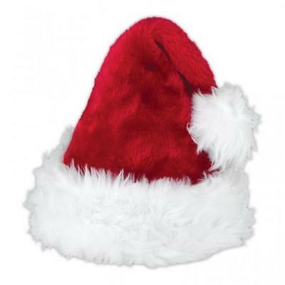 Adults Deluxe Plush Santa Hat
