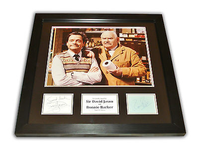 David Jason & Ronnie Barker SIGNED Photo Large Framed Open All Hours Display COA