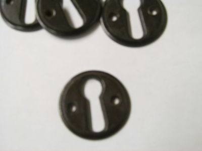 ONE RECLAIMED 34 mm  BAKELITE KEY HOLE COVER / ESCUTCHEON      -KC4a-