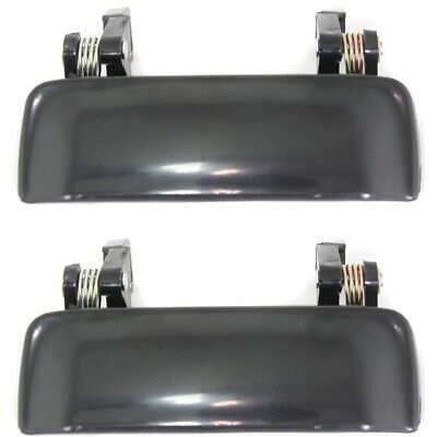 Door Handle Set For 2001-2011 Ford Ranger Smooth Black Front Outer 2Pc