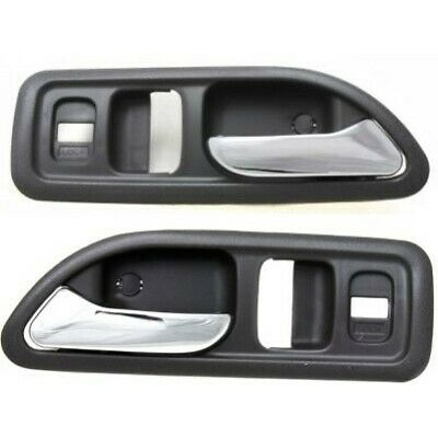 Door Handle Set For 1994-1997 Accord EX EX-R LX SE Chrome Gray Front Inner 2Pc