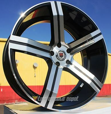 22 Inch 100 Rims And Tires Challenger Daytona Charger R/t Magnum 300C 5X115 +13