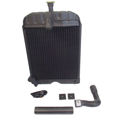 8N8005 Radiator with Hoses Pads & Original Style Cap for Ford Tractor 2N 8N 9N