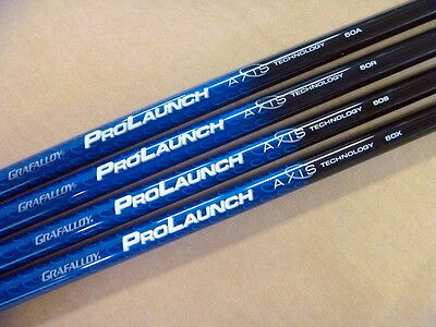 New Prolaunch Blue Axis Driver Shaft With Adapter + Grip