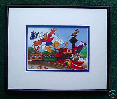 Donald Duck Chip And Dale Framed Cel Promo Card Train