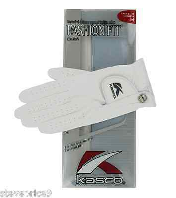 Kasco Ladies White Fashion Fit Golf Glove. Large. Right Hand