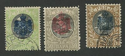 Serbia Used Set 3 Stamps
