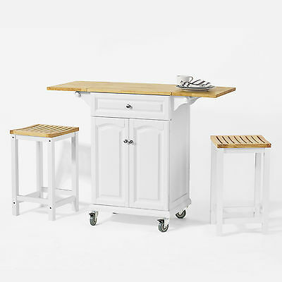 SoBuy®  Kitchen Trolley with Extendable Worktop, Kitchen Bar Cabinet,FKW36-WN,UK