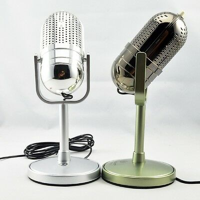 Gold 3.5 mm Desktop Microphone MIC for PC Computer Laptop Mac Desktop karaoke