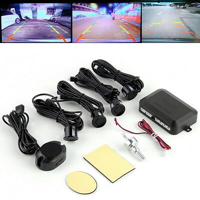 Circular Parking Sensors Car Backup Reverse Radar Rearview Mirror LED Display DF