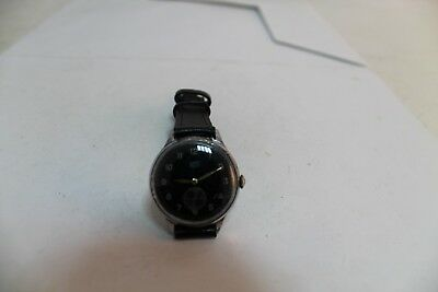 Antique Old Vintage German Made Military Army Umf Ruhla Mens Wrist Watch Cal.922