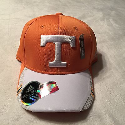 Adidas ClimaLite Official Sideline Tennessee Volunteers Flex Fit Cap NWT Sz S/M