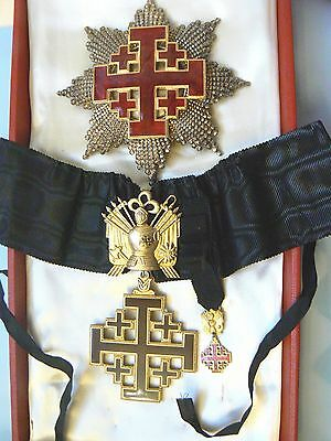 Italy, Vatican Order Of The Holy Sepulchre, Grand Cross  Military Set With Case