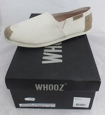 chaussures homme Whooz wixo canvas toile cuir shoes neuf 57 €