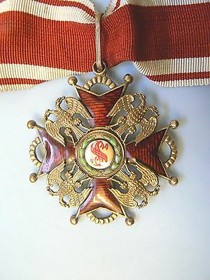 RUSSIA IMPERIAL ORDER ST.STANISLAUS 1917,COMMANDER, PROVISIONAL GOVERNMENT,rare