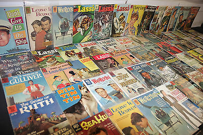 VINTAGE DELL GOLD KEY GOLD SILVER TV MOVIE COMIC LOT 66pc I LOVE LUCY (3.0-8.0)