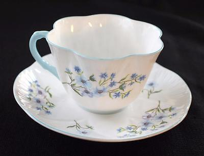VTG SHELLEY Bone China England Dainty BLUE ROCK Pattern #13501 Cup & Saucer