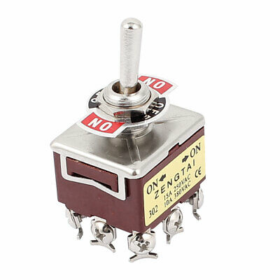 AC 250V 15A AC 380V 10A 9 Terminals ON/ON 2 Positions Latching Toggle Switch